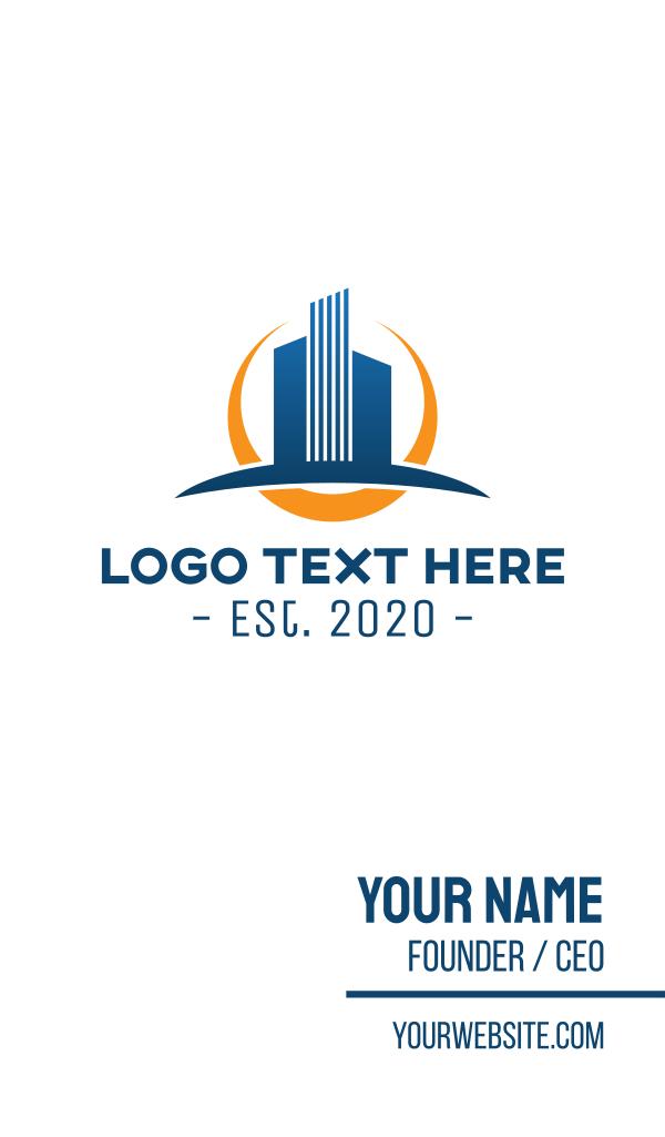 Sun Corporate Tower Business Card