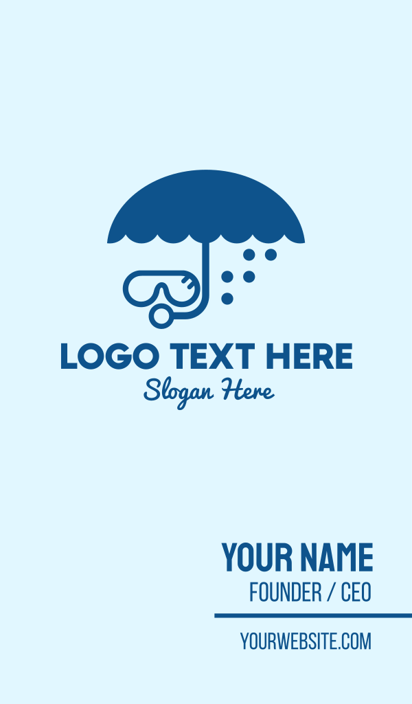 Umbrella Diver Business Card