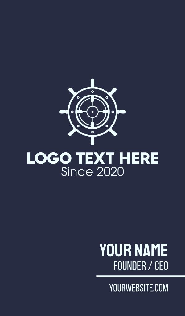 Maritime Steering Wheel Crosshair Business Card