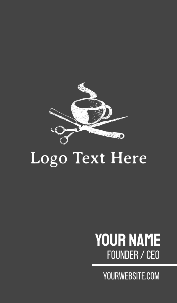 Cup & Scissors Business Card