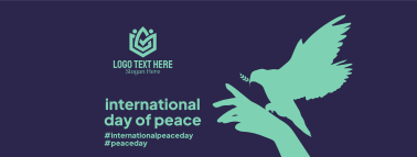 Day Of  Peace Hand Facebook cover