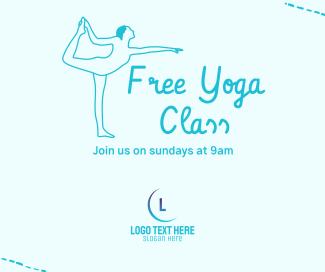 Free Yoga Class Facebook post