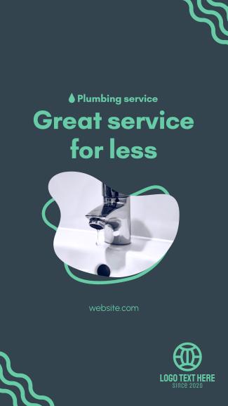 Great Plumbing Service Facebook story