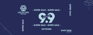 Super Sale 9.9 Facebook cover