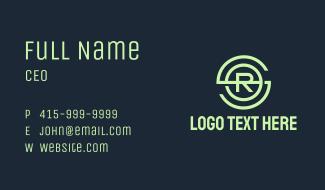 Green Monogram SRO Business Card