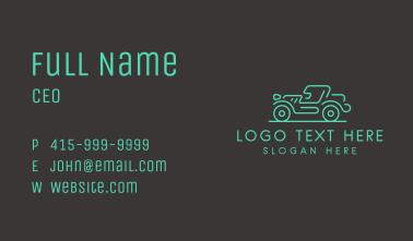 Minimalist Jeep Vehicle Business Card