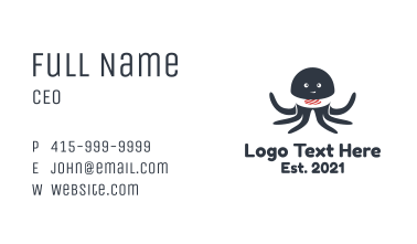 Octopus Sushi Business Card