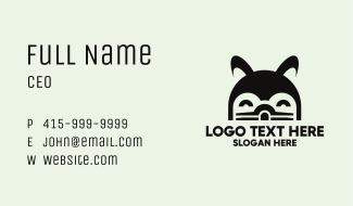 Cute Black Hamster Business Card