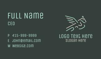 Neon Flying Pegasus Business Card