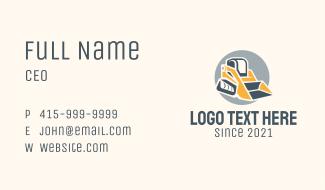 Bulldozer Heavy Equipment  Business Card