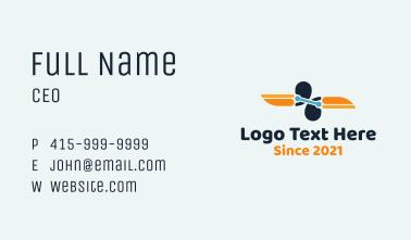 Symmetrical Toucan Link  Business Card
