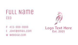 Pink Cockatiel Bird Business Card