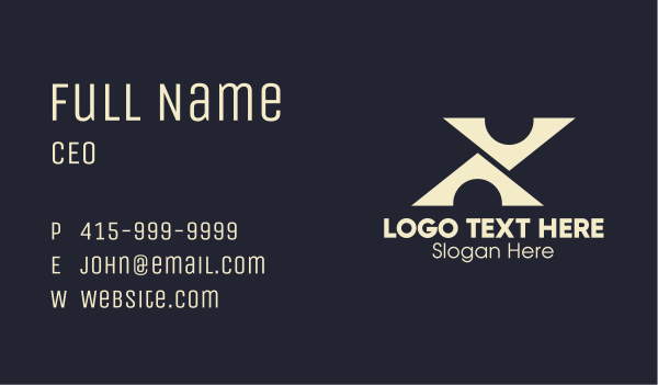 Abstract Tech Letter X Business Card