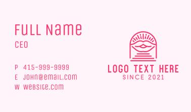 Makeup Lips Emblem Business Card