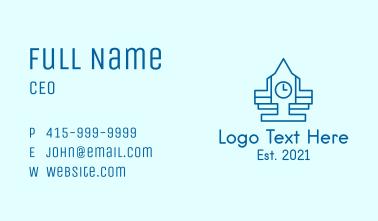 Blue Clock Tower  Business Card