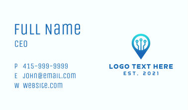 Tech Location Pin Business Card
