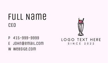 Sweet Cherry Smoothie  Business Card