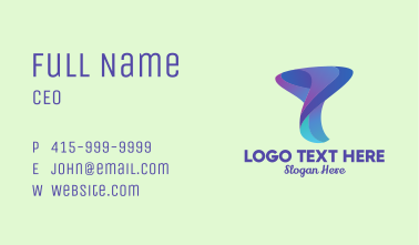 Modern Business Letter Y  Business Card