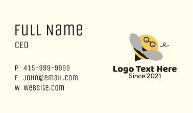 Cute Nerd Bee  Business Card