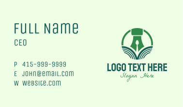 Agricultural Food Pen Business Card