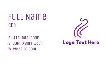 Gradient Purple Smoke Outline Business Card