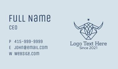 Star Taurus Outline Business Card