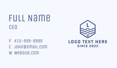 Blue Marine Sign Letter  Business Card