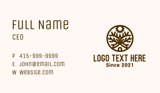 Brown Forest House Business Card