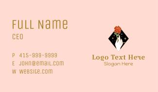 Red Rose Stalk Business Card