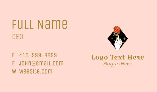 matchmaking - Red Rose Stalk Business card horizontal design