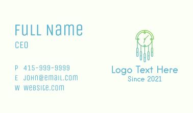 Gradient Clock Chandelier Business Card