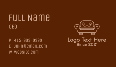 Game Console Sofa Business Card