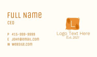 Natural Messaging Letter Business Card