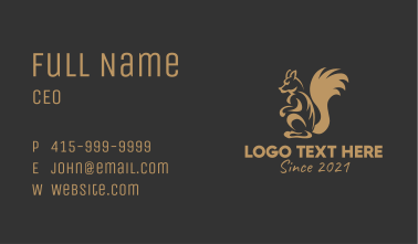 Squirrel Gaming Mascot Business Card