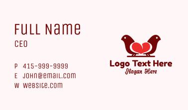 Love Bird Sanctuary Business Card
