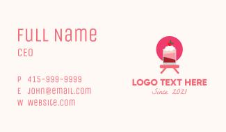 Strawberry Milkshake  Business Card