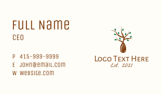 Leaf Seedling Sprout Business Card