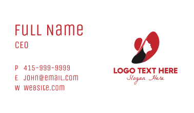Elegant Woman Profile Business Card