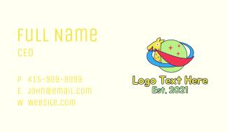 Giraffe Planet Orbit Business Card