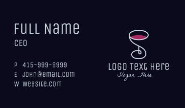 Wine Glass Bar Business Card