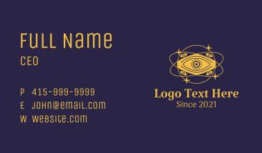 Mystical Eye Planet Business Card