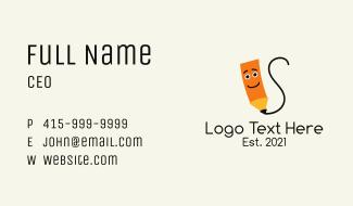 Pencil Scribble Mascot Business Card