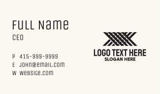 Metal Works Letter X Business Card
