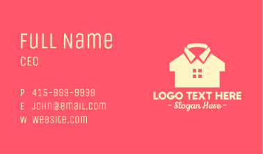 Clothing Shirt House Business Card