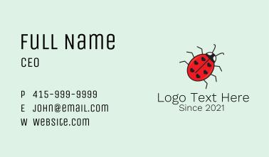 Ladybug Heart Mascot  Business Card