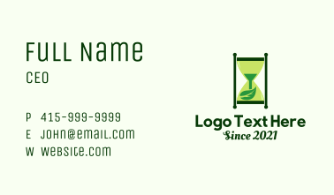 Nature Hourglass Business Card