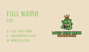 Royal Crocodile Burger Business Card