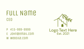 Indoor Plant Home Business Card