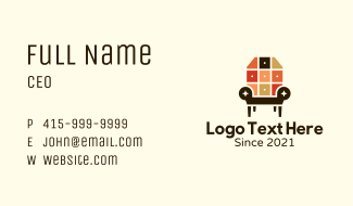 Interior Design Armchair Business Card