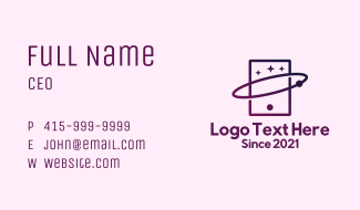Mobile Phone Star Tablet Business Card